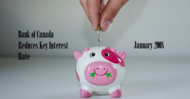 Bank of Canada Reduces Key Interest Rate January 2008