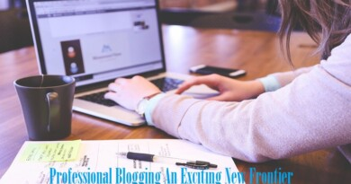 Professional Blogging An Exciting New Frontier