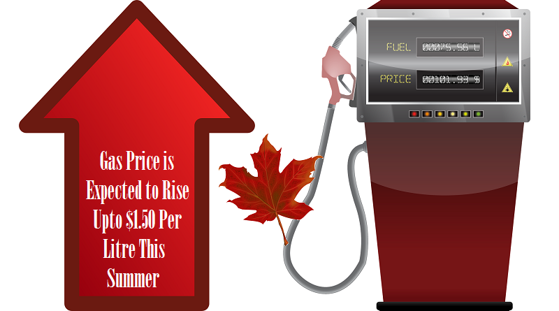 Gas Price Is Expected To Rise Upto $1.50 Per Litre This Summer
