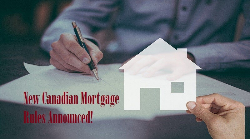 New Canadian Mortgage Rules Announced