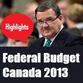 Federal Budget Canada 2013
