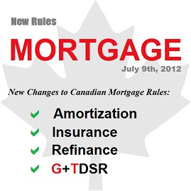 New Changes to Canadian Mortgage Rules Effective July 9, 2012