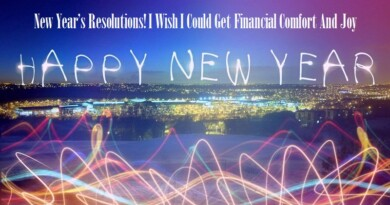 New Year's Resolutions! I Wish I Could Get Financial Comfort And Joy