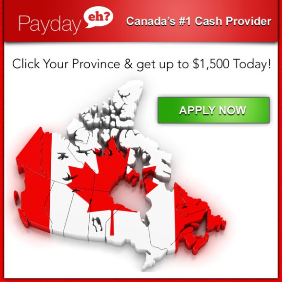Need some extra money for any purpose for all credit type? Let Payday Eh get you what you need. We're Canada's Number 1 Canada Cash Provider. Please Click here to begin your quick and secure application to receive up to $1500 cash in few hours, same day approvals, easy to qualify for all Canadians and all applications accepted. Enjoy one of the the best Canadian CreditLending online.