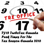 TY15 TurboTax Canada Peak Times For The Tax Season Canada 2016