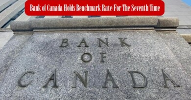 Bank of Canada Holds Benchmark Rate For The Seventh Time